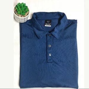 Nike Blue Polo Golf Short Sleeve Shirt Sphere Dry